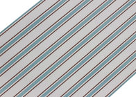 Removable Blue And Grey Striped Wallpaper Non Woven Wall Covering 0.53*10M
