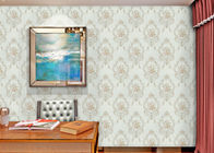 China Damask Interiors Europe Wallpaper , Soundproof British Style Wallpaper with Embossed Surface company