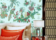 0.53*10m Waterproof Country Style Wallpaper For Bedding Room , Non Woven Materials