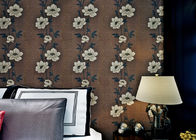 China Floral Interior House Decoration Wallpaper With Non Woven Materials , Brown Color company