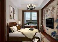 China Bedroom Light Grey Contemporary Wall Coverings , Home Decorating Wallpaper factory