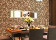 China 0.53*10m Cheap Price Embossed Floral Wallpaper for Home Decoration , SGS CSA Listed company