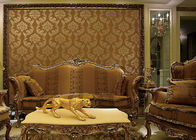 European Style Wet Embossing peel and stick wall covering 0.685*8.32M Different Colors