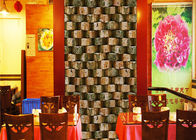 China Eco - Friendly Embossed 3d Brick Effect Wallpaper For Restaurant Background company