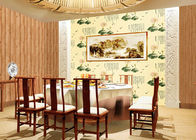 Chinese Style Lotus Animal Pattern Contemporary Wall Covering For Room / Restaurant Decoration