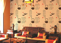 China Durable Non Pasted Waterproof Chinese Pattern Wallpaper With Teapot / Ancient Portey Printing factory