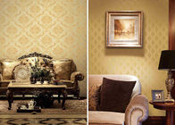 China Brown Concise Damask Vinyl Removable Wallpaper Home Decoration Wall Covering company