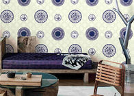China Blue And White Porcelain Room Decoration Asian Inspired Wallpaper / Wall Coverings factory