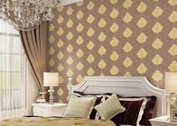 China Classical Damask Concise European Washable Vinyl Wallpaper With Embossed Surface company