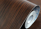 Imitation Walnut Color PVC Material Self Adhesive Wallpaper With 0.45*10M Size
