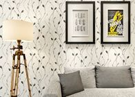 China Leaf Pattern Embossed Vinyl Modern Removable Wallpaper Contemporary Wall Coverings factory