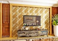 China Luxurious Modern Style Wallpaper with Removable Gold Foil Material , Geometric Pattern factory