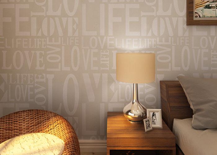 0.53*10M Modern Non - woven Wallpaper , Fashion LOVE English Letters Wallpaper
