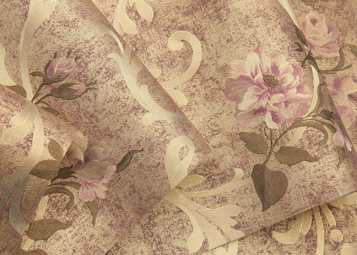 Romantic Floral Country Flower Wallpaper Removable Gold Foil Material 05310M
