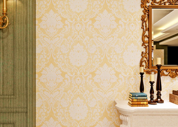 0.53*10M Victorian Pattern Wallpaper Washable with Non Woven Wall Paper , Soundproof