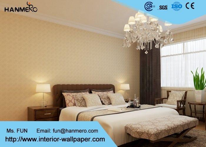 Beige geometric pattern modern removable wallpaper for for Beige wallpaper living room