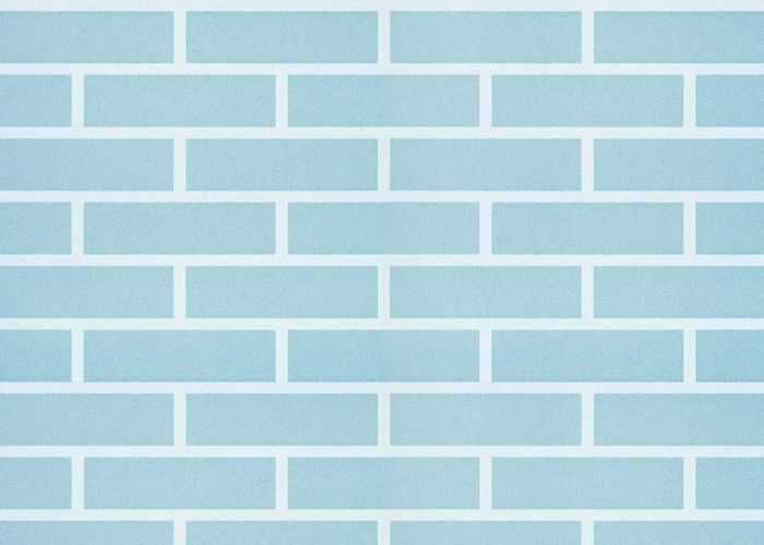 Blue Self Adhesive 3D Brick Effect Wallpaper Non Woven Materials Pre
