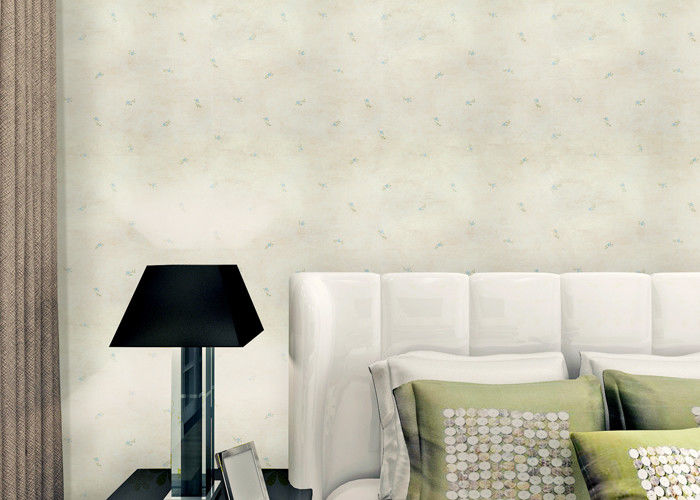 Non Woven Rustic Floral Wallpaper With Printed Surface Technics Asian Style