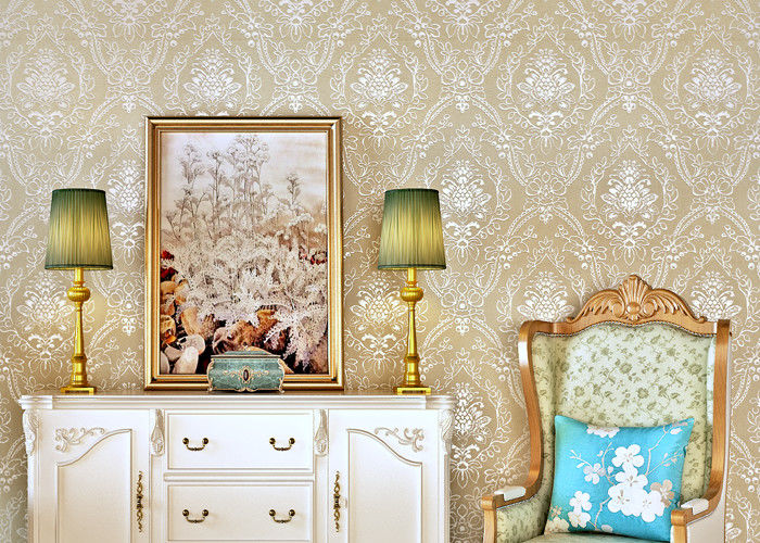 Leaf Flowers Pattern 3D Home Wallpaper For House Walls Pretty Vintage Wallpapers