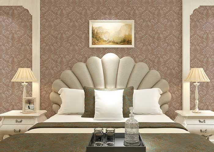 Floral decoration contemporary bedroom wallpaper , Nonwoven ...