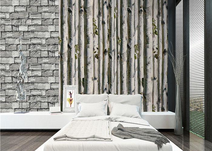 grey birch tree home 3d wallpaper no toxic living room wallpaper heat insulation