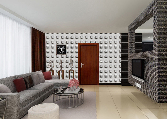 Square Pattern Modern Fashion Style 3d Wallpaper House Decor With