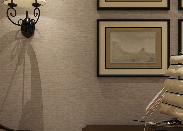Embossed modern removable wallpaper solid color wallpaper with line printing