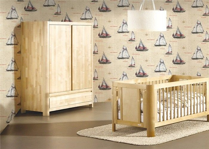 New Welcome Boat Design Interior PVC  Contemporary Wall Coverings Natural Plant Fibers 3D For Children Room