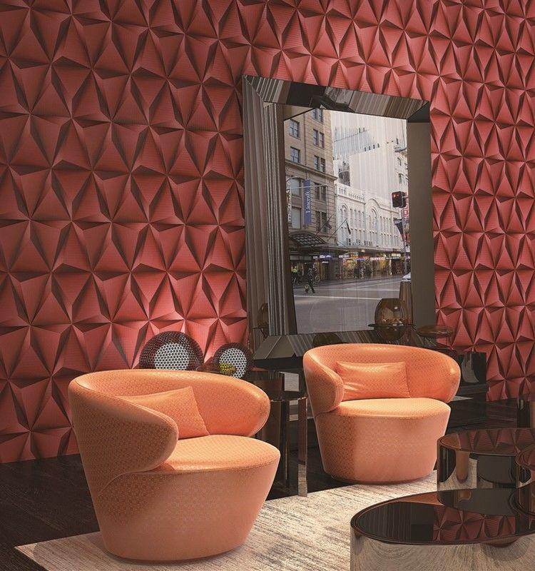 Modern foam vinyl embossed wallpaper interior design for 3d interior wallpaper