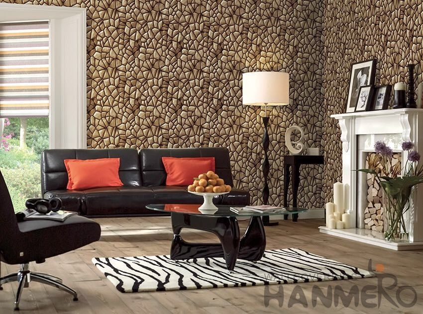 3d Stone Textured Pvc Korea Design Wallpaper 1 06m For Home Office Decoration