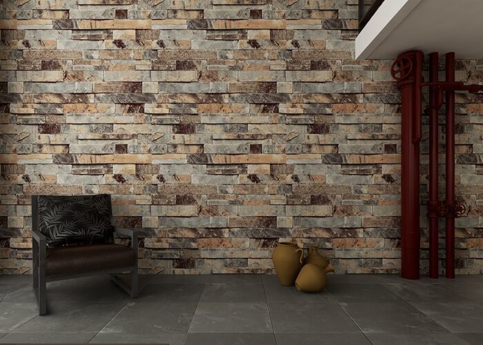Eco Friendly Brick Effect Wallpaper