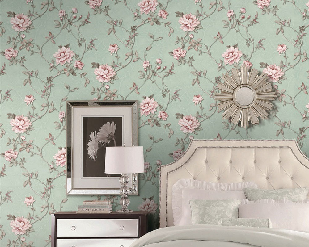 Eco - Friendly European Style Wallpaper Fancy Floral Pattern Chinese Factory