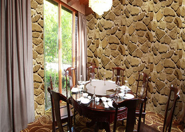 China Mable Printing 3D Home Wallpaper , Scrubable 3d wallpaper for home decoration factory