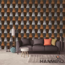 China Interior Room Decor 3D Home Wallpaper PVC Wall Covering Popular Modern Style factory