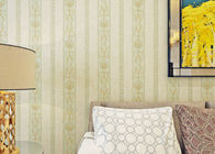 Stripped Non woven Wallpaper For House Decoarion , Bronzing Surface Treatment